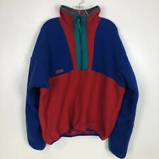 Vintage Columbia Mens XL Pullover Radial Sleeve Fleece Made In USA Color block