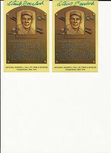 Signed 3.5 x 5 National Baseball HOF STANLEY COVELESKY - Personal COA
