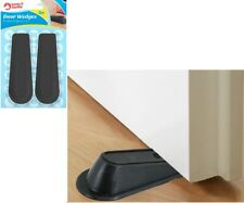 2X Door Stopper Wedges Black Suitable for gaps up to 2cm Heavy Duty Rubber