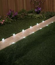 PATH LIGHTS 12 SOLAR PATHWAY MARKER LIGHTS DRIVEWAY LIGHTING GARDEN DECOR