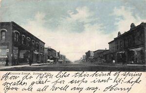 Postcard Saginaw Street in Durand, Michigan~119642
