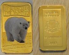 Somalia 2013 Goldplated Color Rectangular 25 shilling-Fauna-Polar Bear