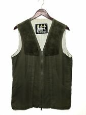 Barbour Mens Shooting Hunting Vest Full Zip Size S Olive Green