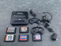 SEGA Genesis Model MK-1631 Video Game System Bundle w/ 5 Games & 2 Controllers