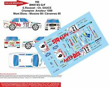DECALS 1/18 REF 199 BMW M3 ROUSSET RALLYE MONT BLANC 1998 RALLY