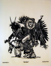 Native American Indian Dancer - Etched Montana Marble Art - by Bernie Brown