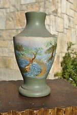 Meyer Folk Art LARGE Pottery Cemetery Vase Bluebonnets San Antonio Texas