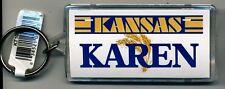 KANSAS NAME KEYCHAIN KAREN (LN-10-520)