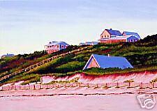 ACEO Print of Original Cape Truro Houses Dune Painting