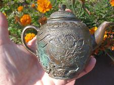 Chinese antique bronze tea pot, 龙凤呈祥  金童玉女 Qing dynasty (1644-1912)