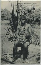 CP  SEIN NUS AFRIQUE OCCIDENTALE SENEGAL DIOBAS FEMME GENVE NONE NU NUE N° 1312