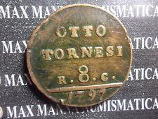 REGNO NAPOLI FERDINANDO IV 8 TORNESI I TIPO 1797 cod. NAPOLIESICILIA-51