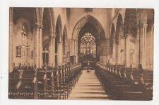 Chesterfield Church Nave 1919 Postcard 150a