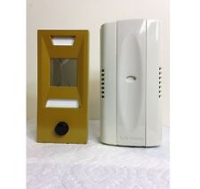New Non Electric, Mechanical Door Chime, Doorbell and Viewer Gold Powder Coated