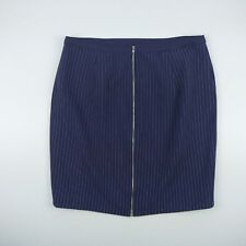 Portmans Lined Purple Pinstripe Skirt Women's Size 14 Machine Washable