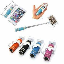 Selfie Stick Mini Monopod Wired Foldable Mobile Holder iPhone & Samsung Phones
