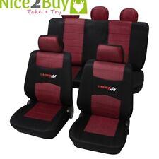 Nissan Micra K12 ab 01/2003-10/2010 5-Türer Sitzbezug Autoschonbezug Carbon wein