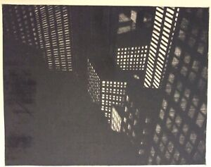 Michael Di Cerbo 1982 etching, NYC Manhattan skyscrapers, pencil signed & dated