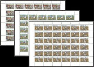 Fauna Bird Ducks 1992 Russia 3 sheets of 36 Mi 254-6