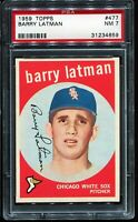 1959 Topps Baseball #477 BARRY LATMAN Chicago White Sox RC ROOKIE PSA 7 NM