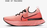 Nike React Infinity Run Flyknit Bright Melon Girls Women's Trainers All Sizes