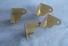 4 Vintage Unused Trunk Corner Trim-Brass Plated Steel-Trunk Hardware