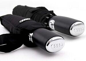Audi Umbrella Parasol Windproof Anti UV Clear/Rain Business Automatic Folding