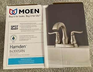 MOEN Hamden 84300SRN Bathroom Faucet -Brushed Nickel Finish, Spot Resist.