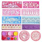 Flower Lace Silicone Fondant Cake Baking Pastry Mold Mould Mat Decorating Tool