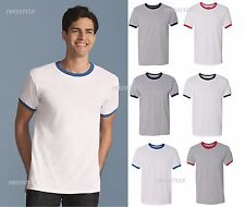 "Gildan - "" Dry Blend"" Ringer Contraste Algodón/Poliéster Camiseta Hombres"