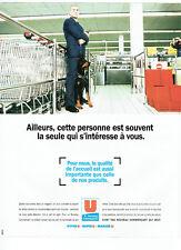 Publicité Advertising 028  1996  Magasins Super U  hyper U l'accueil