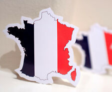 #4672 France Map National Flag Air Travel Luggage Label 8x8cm DECAL STICKER