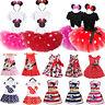 Toddler Baby Girls Minnie Mouse Dress Cartoon Summer Vest Skirts Party Sundress