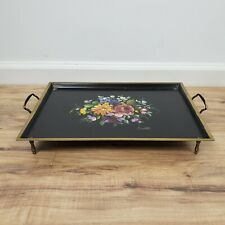 Vintage Tole tray Musical Chippendale Nascho Hand Painted Tray Signed Anatole