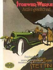 Stoewer-Werke Stettin Plakat Braunbeck Automobil Fahrzeug Militär Motor A3 002