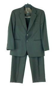 Michael Kors Men's 100% Wool Dark Brown Suit Size 40S Pleated Pants 32W X 30L