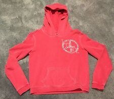 Used American Eagle Hoodie Sweatshirt Pullover Pink Red Women Size Medium