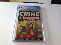 CRIME AND PUNISHMENT 23 CGC 9.2 SINGLE HIGHEST GRADED COPY LEV GLEASON COMICS