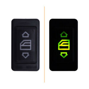 1x Electric Power Window Lifter Switch ON/OFF SPST Rocker Button Car Accessories