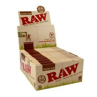 RAW ORGANIC King Size Slim Natural KS Hemp Rolling Papers Unrefined - Box 50