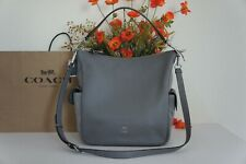 NWT Coach C1522 Pebble Leather & Suede Pennie Shoulder Bag Heather Grey $498
