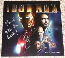 Autographed IRON MAN Soundtrack Signed By RAMIN DJAWADI (Marvel 2008)