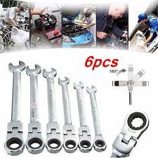 6x 6mm-12mm DANIU Metric Head Ratchet Spanner Flexible Pivoting Gear Wrench Tool