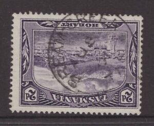 Tasmania BREAM CREEK postmark (type 1a) on 2d pictorial rated S+(6) by Hardinge
