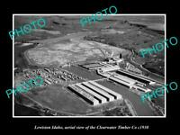 OLD POSTCARD SIZE PHOTO LEWISTON IDAHO AERIAL VIEW OF TIMBER Co c1930