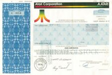 Atari Corporation - Stock Certificate