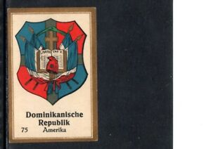 VERY EARLY DOMINICAN REPUBLIC CIGARETTE CARD, NATIONAL COAT OF ARMS