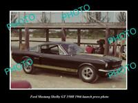 OLD 8x6 HISTORIC PHOTO FORD MUSTANG SHELBY GT 350H 1966 LAUNCH PRESS PHOTO 2