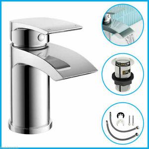 Modern Basin Sink Tap Square Mixer Chrome Small Mono Luxury Bathroom Cloakroom
