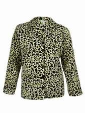 Charter Club Women's Animal Print Pajama Top (1X, Multi)